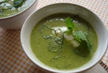 Sopa cremosa de zucchini