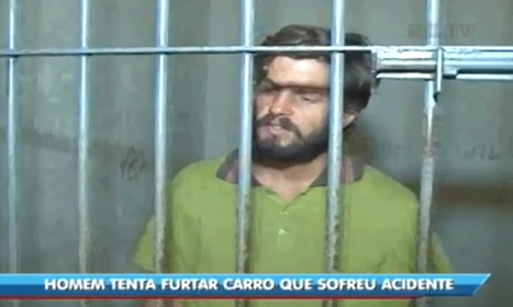 Homem tenta roubar carro e é preso