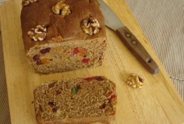 Pão integral com melaço de cana