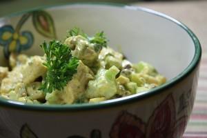 salada de frango curry 125 12 300x200 Salada de frango com curry, maçã verde e chutney de manga