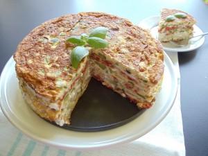 bolo de omelete com legumes 88 300x225 Bolo de omelete com legumes