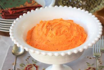 Purê de batata – doce com queijo cottage e iogurte