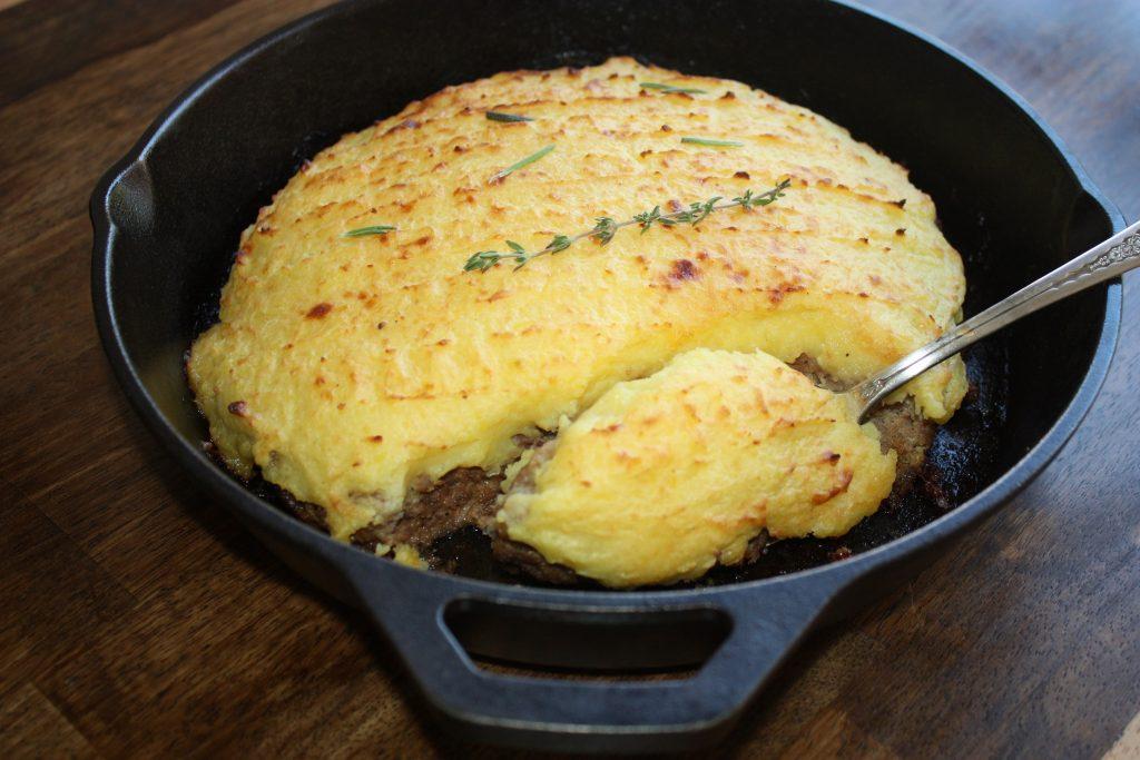 Hamburguer com pure de batata 1024x683 Hambúrguer com purê de batatas – Hachis Parmentier