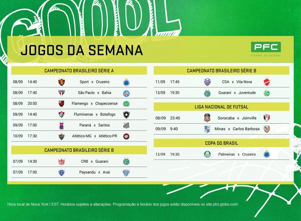 PRINT EUA 7set v3 ok Brasileirão e Semi final da Copa do Brasil agitam o PFC