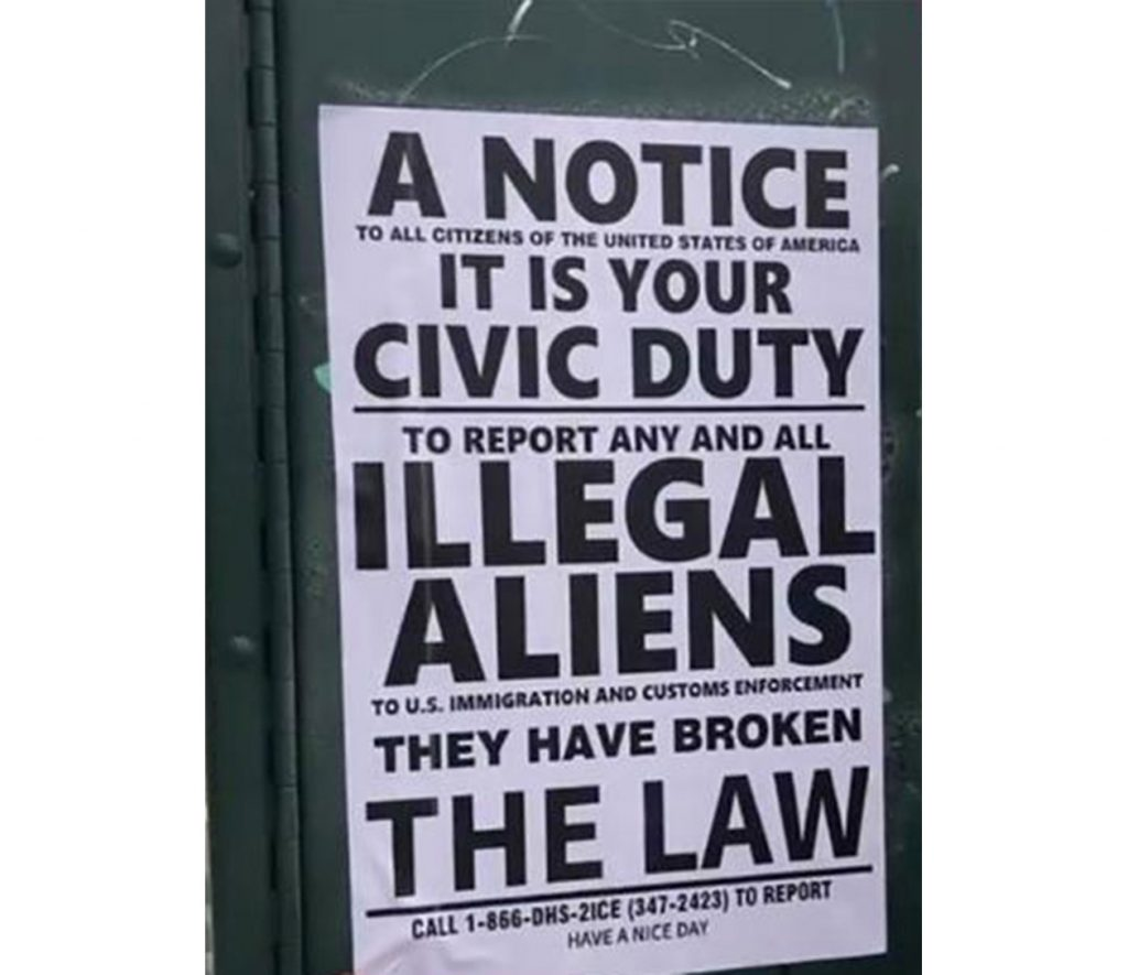 Foto11 Panfleto contra indocumentados Panfletos espalhados em Queens encorajam a denúncia de indocumentados ao ICE
