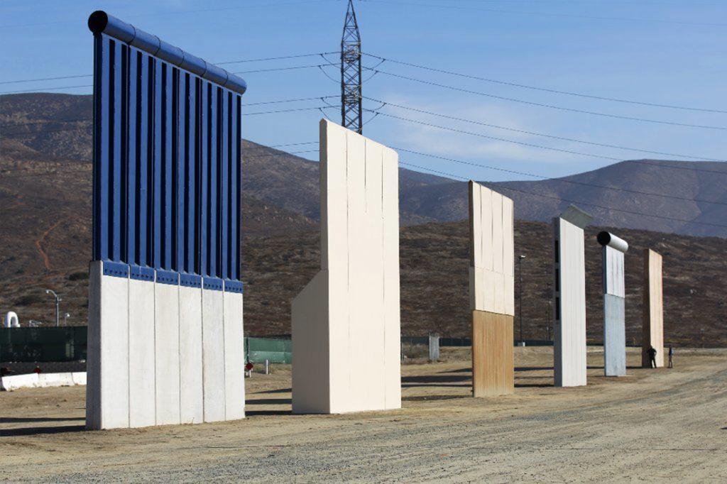 Foto6 Prototipos na fronteira Protótipos de muro na fronteira custam US$ 3 milhões e serão demolidos
