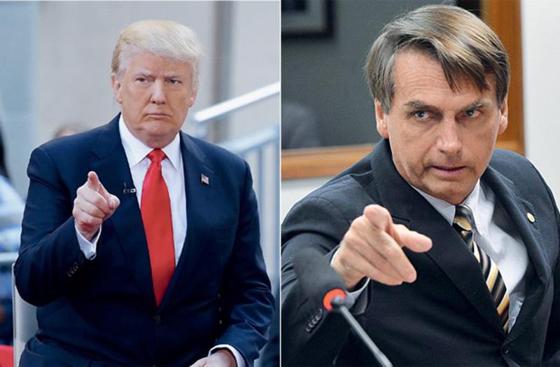Foto12 Donald Trump e Jair Bolsonaro Congresso pode anular liberação de visto para norte americanos