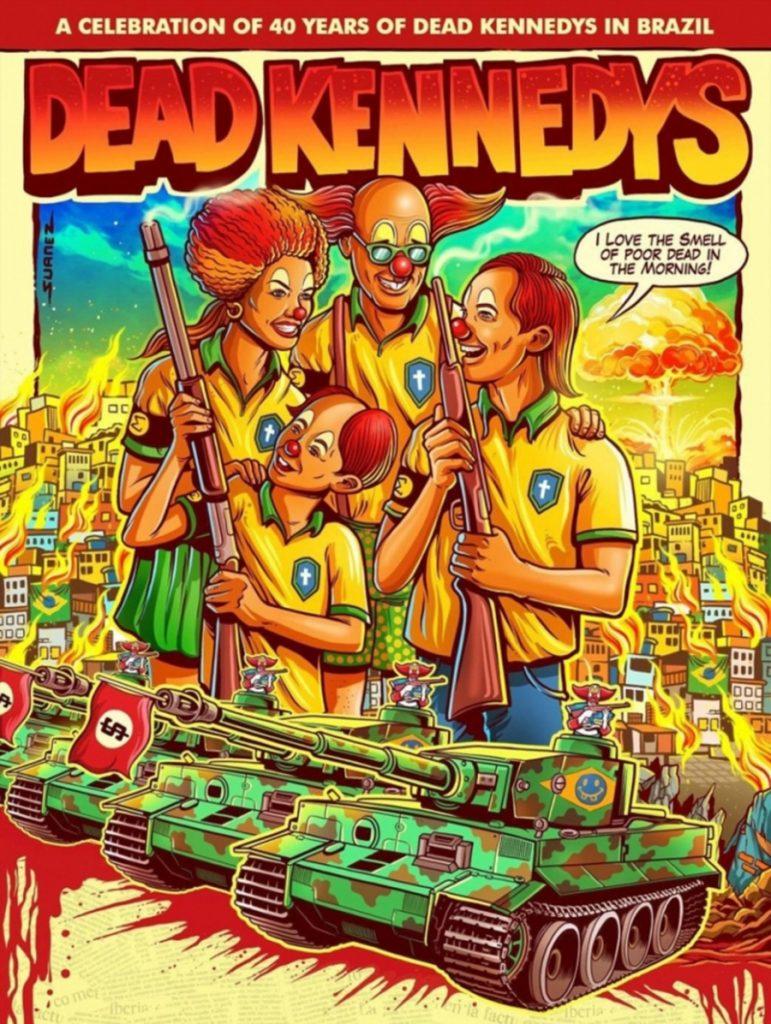 "Foto35 Dead Kennedys Banda de punk ""mira"" na política armamentista de Bolsonaro"
