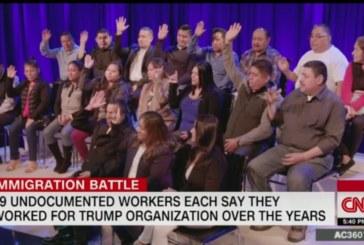 Emissora reúne 19 indocumentados que trabalharam para Trump