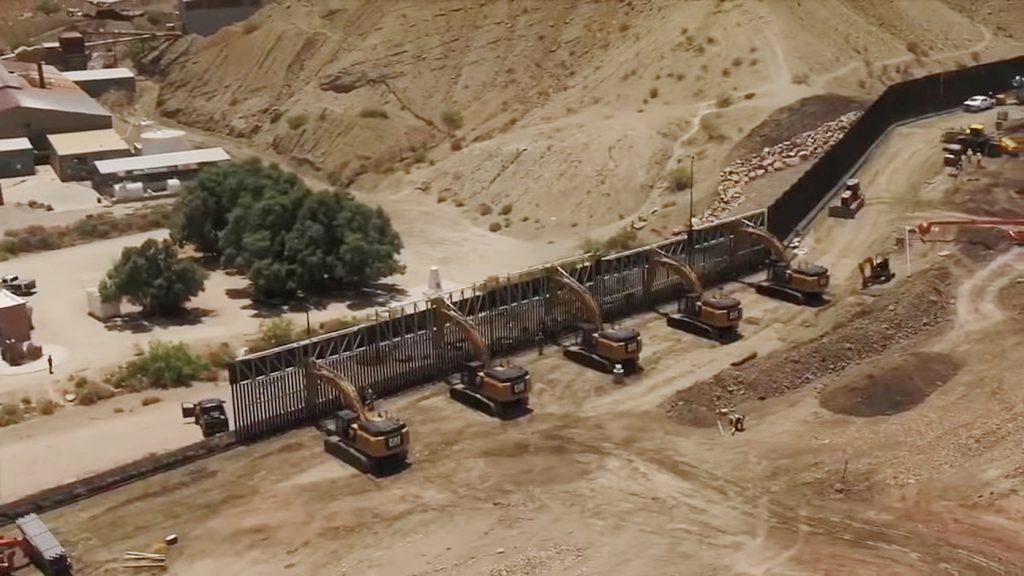 Foto3 Muro na fronteira Prefeito em Novo México ordena suspensão da construção de muro na fronteira
