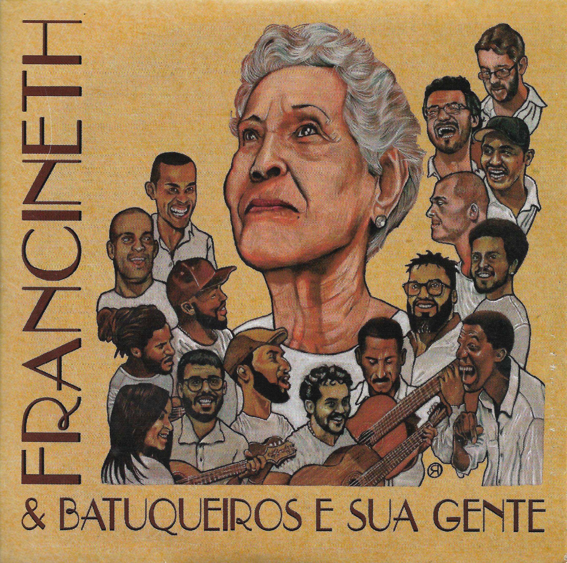 """Capa CD Francineth Batuqueiros e Sua Gente A """"gata"""" Francineth"""