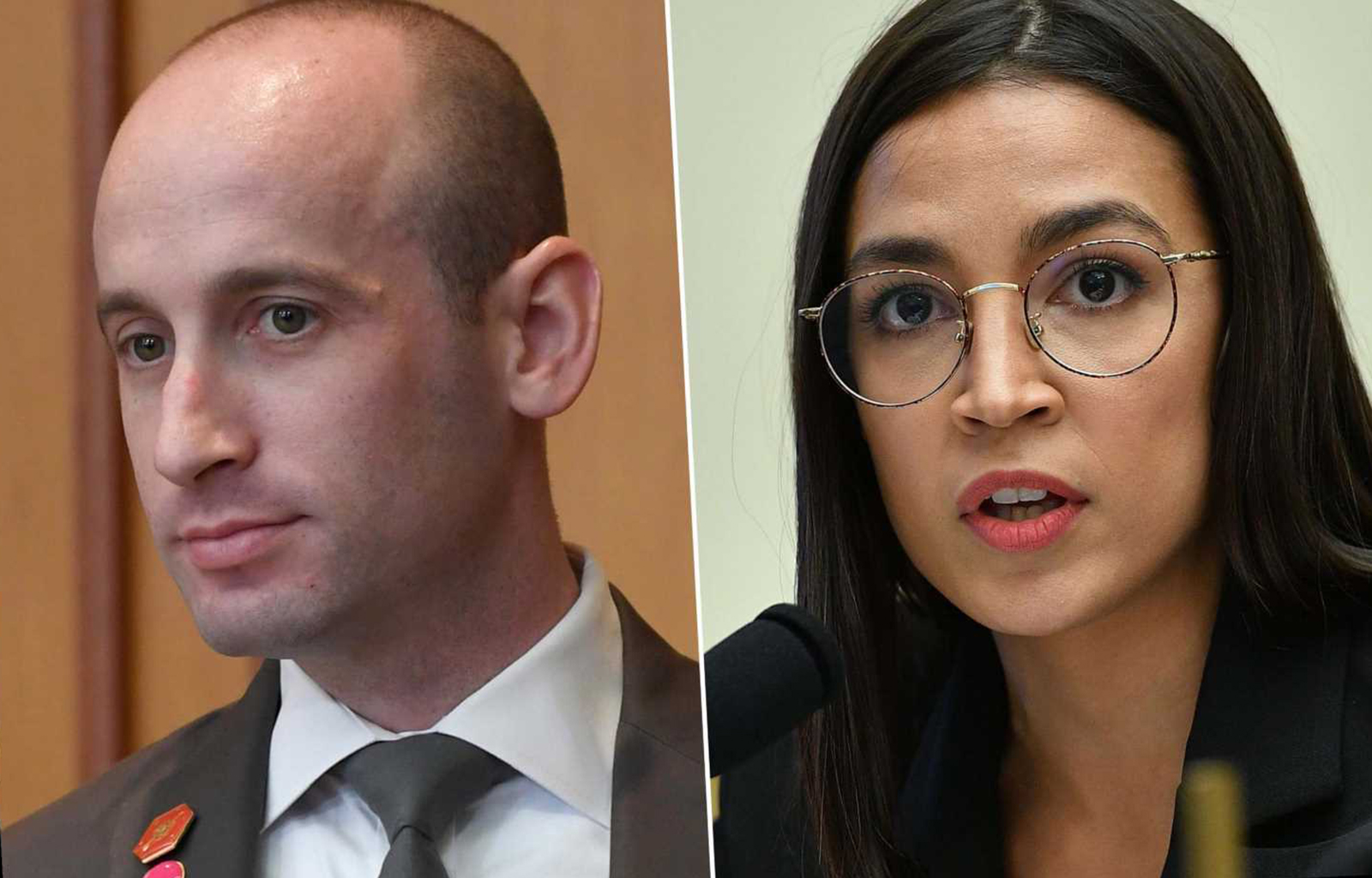 Foto19 Alexandria Ocasio Cortez e Stephen Miller Petição para a renúncia de Stephen Miller supera 20 mil assinaturas